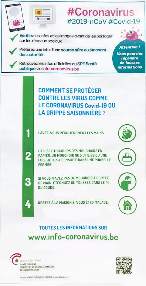 Coronavirus : prévention